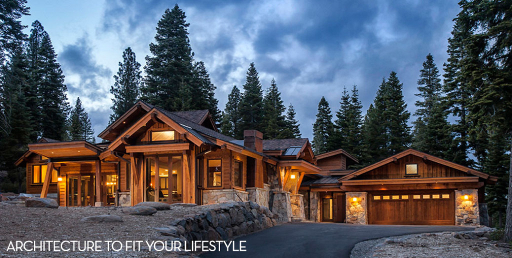 Lavish mountain home design or classic tahoe style ski for Mountain home architects