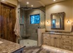Master Bath Ski-On/Ski-Out Custom Family Lodge in Northstar by Borelli Architecture
