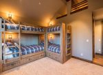 Bunkbeds Ski-On/Ski-Out Custom Family Lodge in Northstar by Borelli Architecture