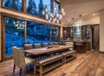 Dining Room in Ski-On/Ski-Out Custom Family Lodge in Northstar by Borelli Architecture