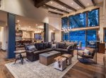 Great Room in Ski-On/Ski-Out Custom Family Lodge in Northstar by Borelli Architecture