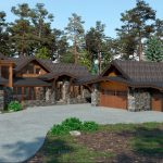 Rendering Tahoe Home by Borelli Architecture in Clear Creek Tahoe, Nevada