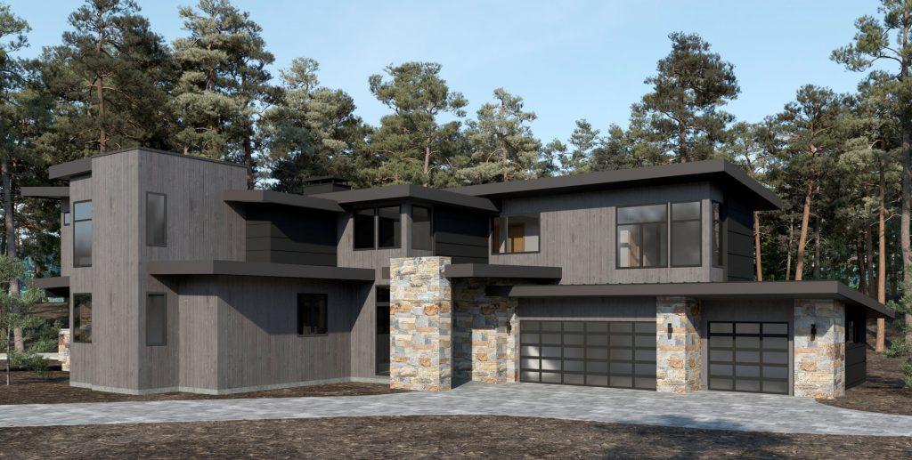 Mountain Modern Home Design by Borelli Architecuture in Lake Tahoe
